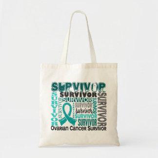 Survivor 10 Ovarian Cancer Budget Tote Bag