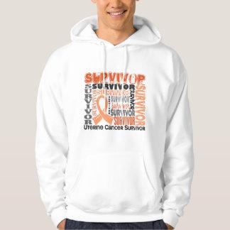 Survivor 10 Uterine Cancer Sweatshirts