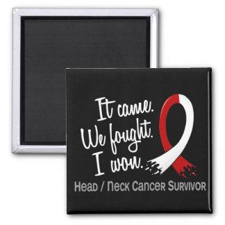 Survivor 11 Head And Neck Cancer Refrigerator Magnet