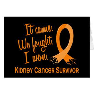 Survivor 11 Kidney Cancer Greeting Card