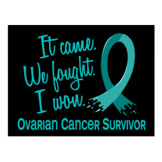 Survivor 11 Ovarian Cancer Postcard