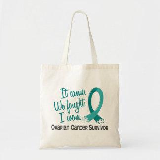 Survivor 11 Ovarian Cancer Budget Tote Bag