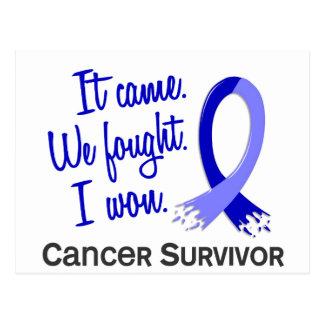 Survivor 11 Rectal Cancer Postcard