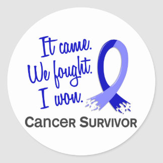 Survivor 11 Rectal Cancer Round Sticker