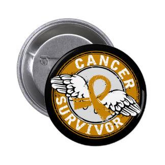 Survivor 14 Appendix Cancer 6 Cm Round Badge