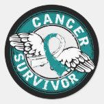 Survivor 14 Cervical Cancer Round Sticker
