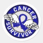 Survivor 14 Colon Cancer Round Sticker