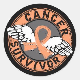Survivor 14 Endometrial Cancer Round Sticker