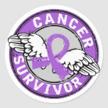 Survivor 14 General Cancer Round Sticker