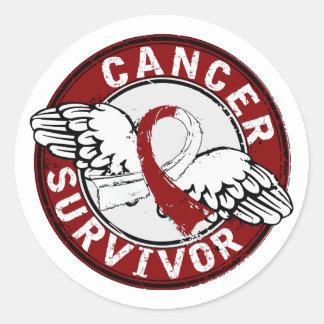 Survivor 14 Head and Neck Cancer Round Sticker