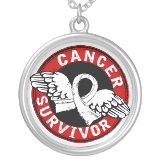 Survivor 14 Lung Cancer Round Pendant Necklace