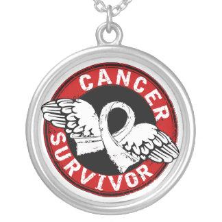Survivor 14 Lung Cancer Silver Plated Necklace