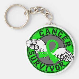 Survivor 14 Non-Hodgkin's Lymphoma Basic Round Button Key Ring