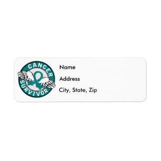 Survivor 14 Ovarian Cancer Return Address Label