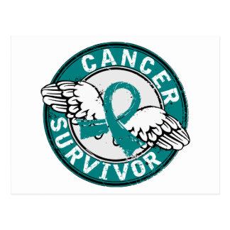 Survivor 14 Ovarian Cancer Postcard