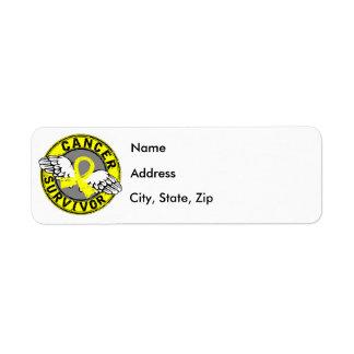 Survivor 14 Sarcoma Return Address Label