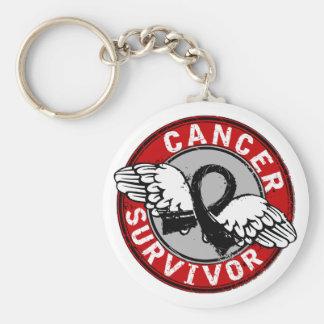 Survivor 14 Skin Cancer Basic Round Button Key Ring