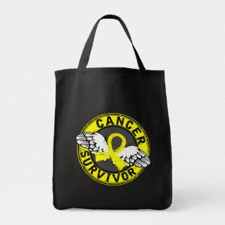 Survivor 14 Testicular Cancer Grocery Tote Bag