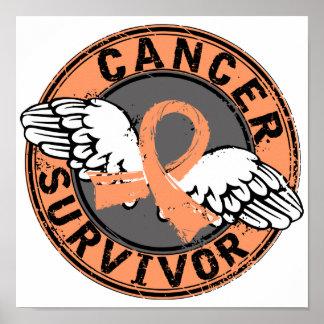 Survivor 14 Uterine Cancer Poster
