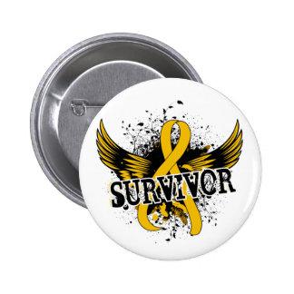 Survivor 16 Childhood Cancer 6 Cm Round Badge