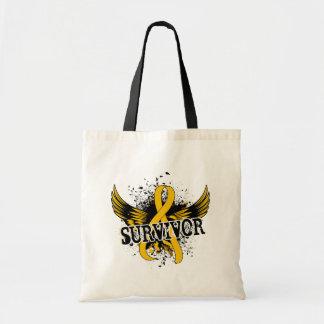 Survivor 16 Childhood Cancer Budget Tote Bag