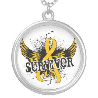 Survivor 16 Childhood Cancer Silver Plated Necklace