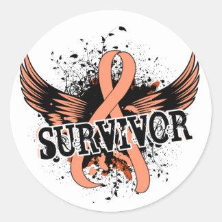 Survivor 16 Endometrial Cancer Round Sticker