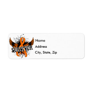 Survivor 16 Kidney Cancer Return Address Label