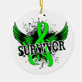 Survivor 16 Lymphoma Christmas Ornament