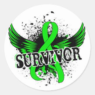 Survivor 16 Non-Hodgkin's Lymphoma Classic Round Sticker