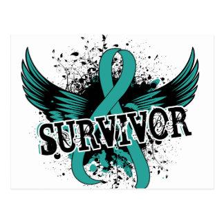 Survivor 16 Ovarian Cancer Postcard