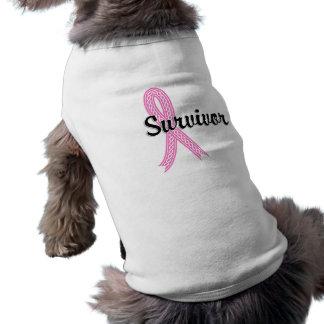 Survivor 17 Breast Cancer Sleeveless Dog Shirt