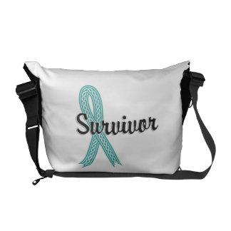 Survivor 17 Ovarian Cancer Commuter Bags