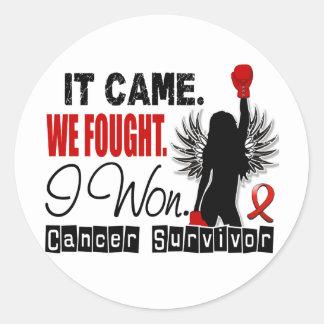 Survivor 22 Blood Cancer Round Stickers
