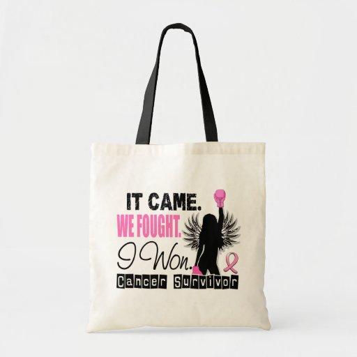 Survivor 22 Breast Cancer Canvas Bags