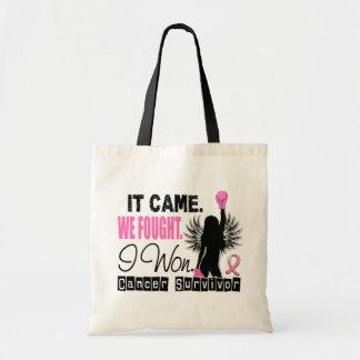 Survivor 22 Breast Cancer Budget Tote Bag