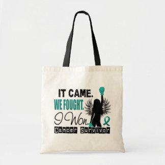 Survivor 22 Ovarian Cancer Budget Tote Bag