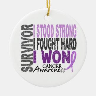 Survivor 4 Cancer Christmas Ornament