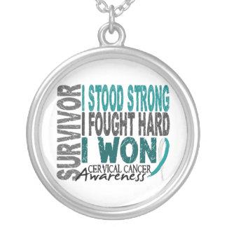 Survivor 4 Cervical Cancer Silver Plated Necklace