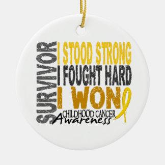 Survivor 4 Childhood Cancer Christmas Ornament