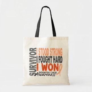 Survivor 4 Endometrial Cancer Tote Bags