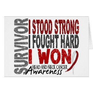 Survivor 4 Head Neck Cancer Greeting Card