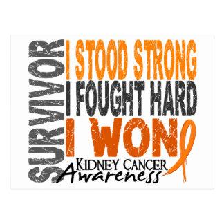 Survivor 4 Kidney Cancer Postcard