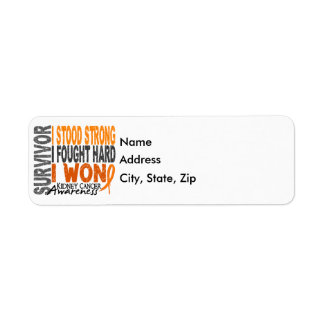 Survivor 4 Kidney Cancer Return Address Label