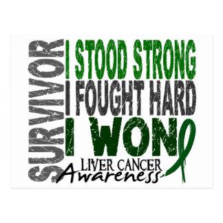 Survivor 4 Liver Cancer Postcard