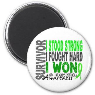 Survivor 4 Lymphoma Non-Hodgkin's 6 Cm Round Magnet