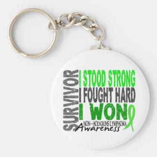 Survivor 4 Lymphoma Non-Hodgkin's Keychain