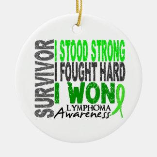 Survivor 4 Lymphoma Round Ceramic Decoration