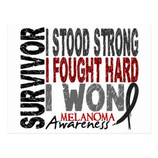 Survivor 4 Melanoma Postcard