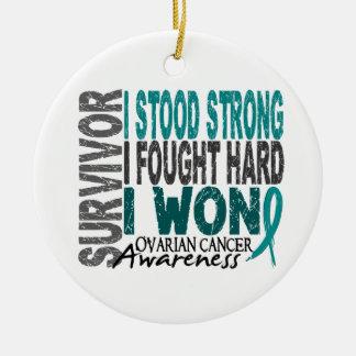 Survivor 4 Ovarian Cancer Christmas Ornament
